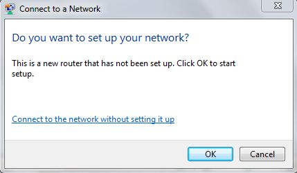 new router non-setup