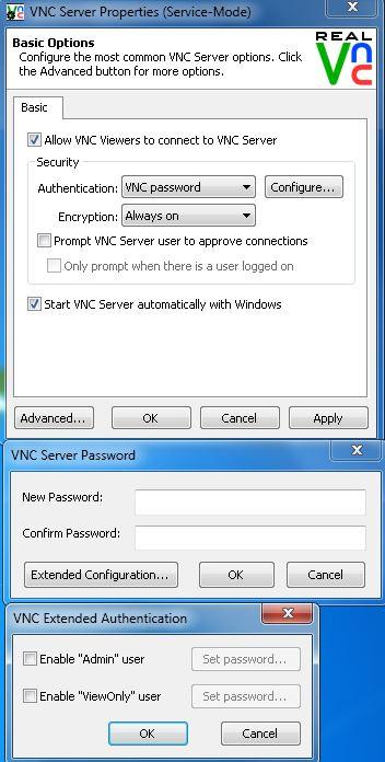 vnc password